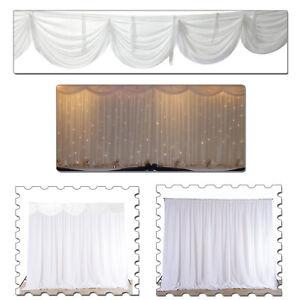 Backdrop Curtain Detachable Swag White Glaçon Silk Wedding Birthday Party Decor