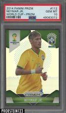 2014 Panini Silver Prizm Soccer World Cup #112 Neymar Jr. Brazil PSA 10 GEM MINT