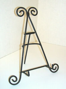 """NEW Decorative 8.5"""" Easel for Photo or Plate Display Black Iron"""