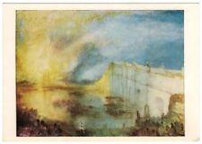 "J.M.W. Turner ""Burning of the Houses of Parliament c 1835"" Art Postcard"