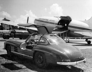 Mercedes 300 SL W 198 I 1956 Guatemala airport victory factory press photograph