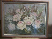 Large Tapestry Framed - Roses arrangement 71 x 55
