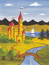 CS8 Self Adhesive Traditional Castles for Canal/Narrow Boat Decoration & Canalia