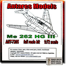 Messerschmitt ME 262 HG III - 1:72 - ANTARES 7205-NUOVO IN SCATOLA ORIGINALE