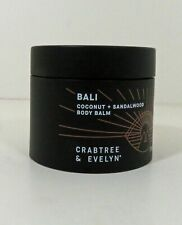 Crabtree & Evelyn Bali Coconut & Sandalwood Body Balm New 3.3 oz. Free Shipping