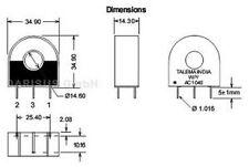 5 pcs. Talema  AC-1010  Stromwandler Current Transformer  für 50/60Hz 1000/1 10A