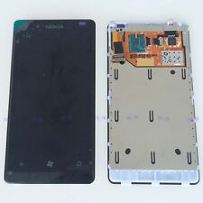 Black Touch Digitizer Screen+LCD Display Assembly + Frame For Nokia Lumia 800