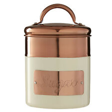 Prescott Cream Copper Embossed Sugar Kitchen Stainless Steel Storage Canister