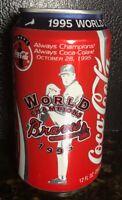 Coke Can Braves 1995 World Series Champions Coca Cola  Full 355 ml Full