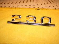Mercedes Late W115 230 4cylind rear deck lid Metal genuine Mercedes OEM 1 Emblem