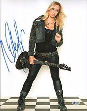 Nita Strauss Signé 11x14 Photo Bas Beckett COA Alice Cooper Guitare Autographes