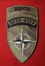 Insigne militaire patch tissu armée écusson brodé KAFOR NATO-OTAN Army