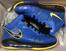 Nike Lebron VIII 8 V/2 Entourage Photo Blue Black Tour Yellow 429676-401 Sz 9.5