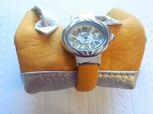 Woman's Fashion Cuff Watch with matching bag, yellow oval face-yellow band