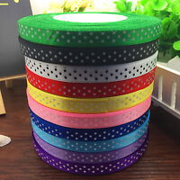 "NEW DIY 10/50 Yards 3/8"" 10MM Lot Print Dots Satin Fashion Party Ribbon Sewing J"