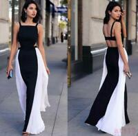 Women/'s Occident Hollow Out Beach Backless Formal Full Length Maxi Dress