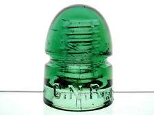 SUPERB- YELLOW GREEN CD 143 C.N.R. Glass Beehive Insulator