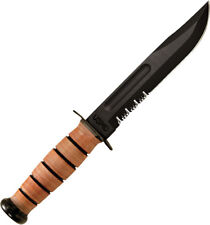 Ka-Bar USMC Fighter Serrated Knife KA1218 Famous in its own right with a histori
