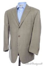 POLO RAULPH LAUREN Beige Houndstooth Silk Wool Blazer Sport Coat Jacket - 44 R