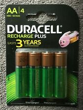 Duracell Recharge Plus Rechargeable 1300 mAh AA Batteries - 4 Pieces