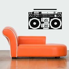 Wall Vinyl Sticker Decal Mural Design Mural Old Retro Cassette Player Cool #920