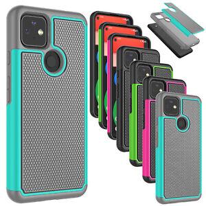 For Google Pixel 5A 5G Phone Case Shockproof Hybrid Rugged Rubber Hard Cover