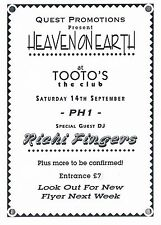 EQUINOX Rave Flyer Flyers 14/9/91 A6 Tooto's Colchester Rare pre-flyer