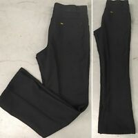 "Vintage Lee Jeans Polyester Pants Black 33"" Waist 70s 1970s 5 Pocket Style"