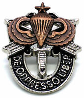 Special Forces Crest DI Pin US Army SF Airborne SENIOR JUMP Parachute SOG SILVER