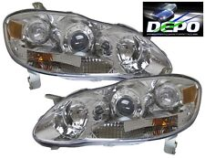 03-08 Toyota Corolla Altis Chrome Projector Headlights