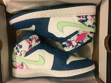 2d291f427aae Air Jordan 1 One Mid GS Paint Stroke Shoe 555112-300 BG GS Youth Size