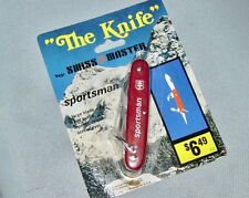 NEW Vintage 1976 *SWISS MASTER* Sportsman Four blade Utility Knife--USA Made #82
