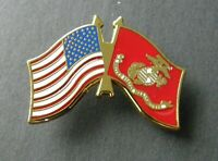 MARINE CORPS MARINES COMBO FLAG LAPEL PIN BADGE 1.25 INCHES USMC US