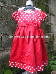 70% OFF! AUTH BLUEBERI GIRL'S RED POLKA DRESS SIZE 4 / 3-4 YRS BNEW US$ 34.99