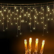 Jingle Jollys 500 LED Solar Powered Christmas Icicle Lights 20m Outdoor White