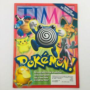 Time Magazine November 22 1999 Vol 154 #21 Pokémon It's Now An Addiction, VG