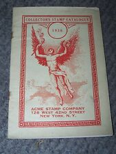 Vintage 1936 Ace Stamp Company New York 1936 Catalogue