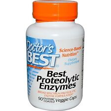 Best Proteolytic Enzymes 90 Enteric Coated Veggie Caps - Dr's Best