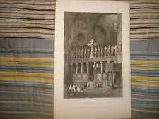 1830 ANTIQUE VENICE CATHOLIC ITALY ITALIAN PRINT NR