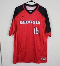 New Nike Mens Large Georgia Bulldogs Vapor Game Shirt Baseball Jersey Red #16