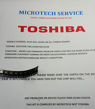 TOSHIBA 22D1334B /40L1353B/40D1333B A/V BOARD REPAIR KIT 33B SEE ADVERT