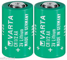 "Brand New ""2"" Varta CR1/2AA 3V Lithium Battery CR14250 LS14250, Made in Germany"