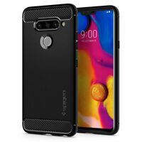 LG V40 ThinQ | Spigen® [Rugged Armor] Slim Hybrid TPU Shockproof Cover Case