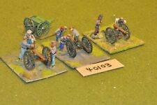 25mm ACW / confederate - 3 guns & crews - art (40103)