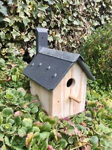 BIRD HOUSE NESTING BOX - HANDMADE BESPOKE - VERY SOLID & STURDY - READY TO PAINT