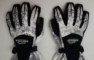 Arctiva Black/White & Grey Cold Weather Snowmobile Gloves ( Size XL / X-Large )