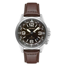 New Seiko Automatic Brown Leather Strap Men's Watch SRPA95