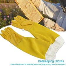 1 Pair Beekeeping Gloves Goat Skin Bee Keeping Vented Sleeves Beekeeper P9Q9