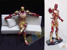 Iron Man Diecast Mark MK42 avec figurine LED, modèle d'action jouet statues