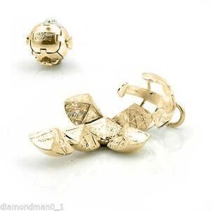 9ct gold Masonic Free Mason Orb (Fob Ball Cross Pendant)Large Size